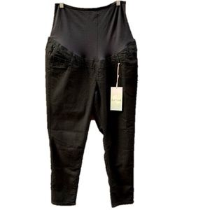 First Kick Maternity Stretch Black Pants XL
